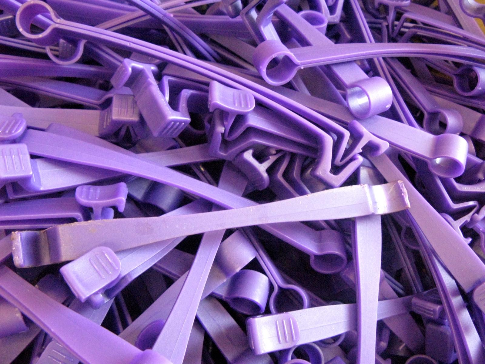 Purple Plastic Quilt Clips